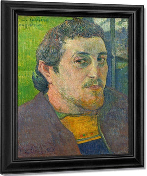 Self Portrait Dedicated To Carriere By Paul Gauguin