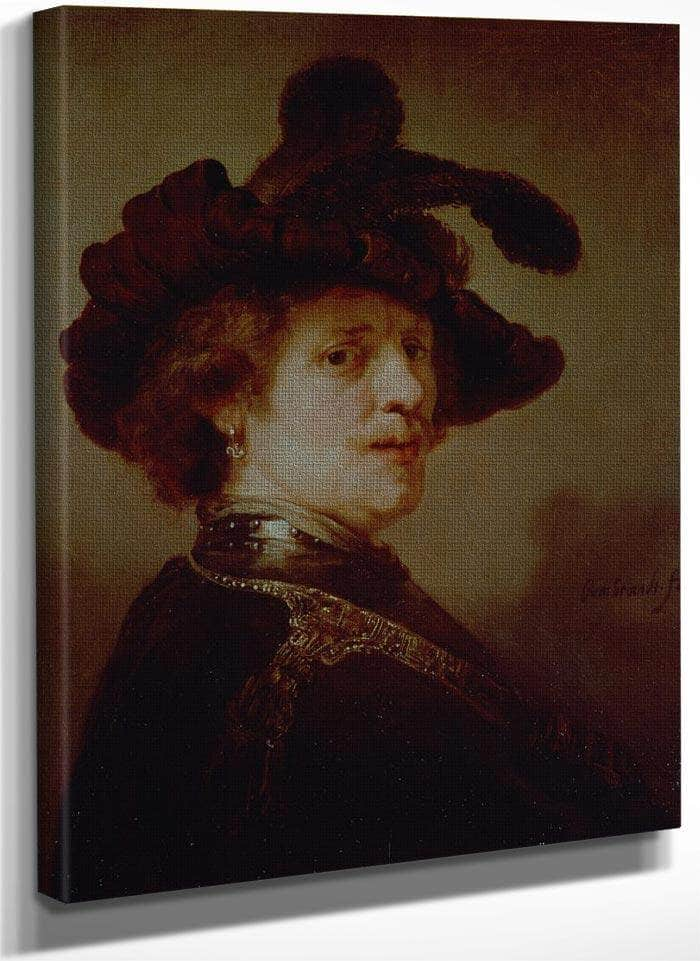 Self Portrait In Fancy Dress I By Rembrandt