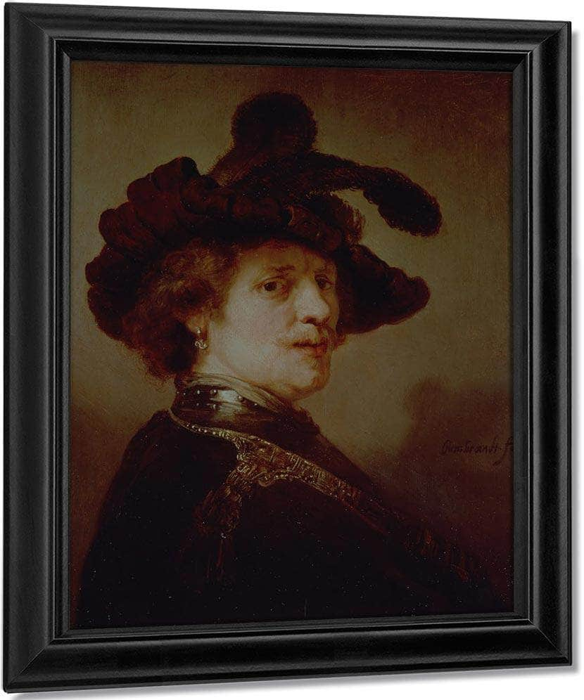 Self Portrait In Fancy Dress By Rembrandt