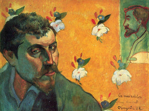 Self Portrait In The Role Of Jean Valjean 1888 45X55Cm Van Gogh Museum By Paul Gauguin