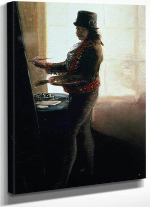 Self Portrait In The Studio By Francisco De Goya