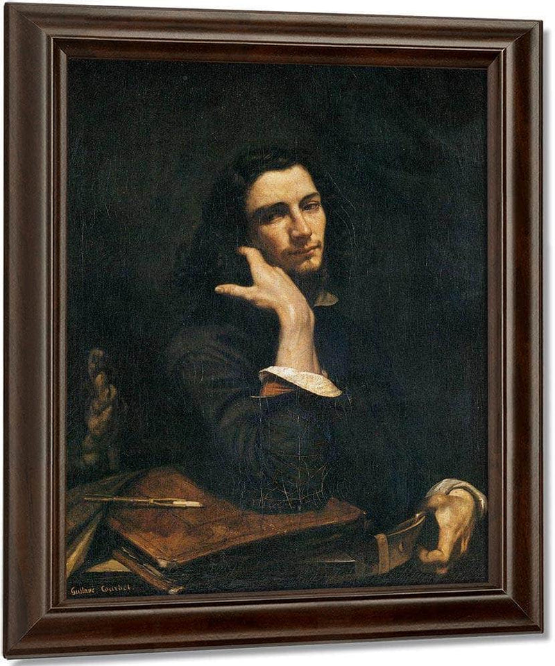 Self Portrait Man With Leather Belt By Gustave Courbet