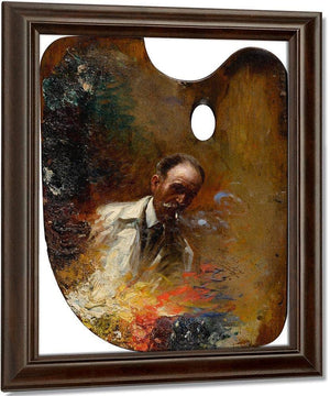 Self Portrait On A Palette By Enjolras Delphin