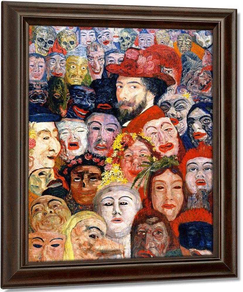 Self Portrait With Masks1 By James Ensor