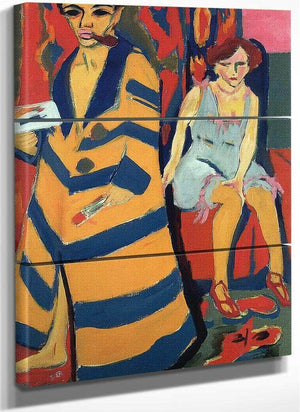 Self Portrait With Model By Erinst Ludwig Kirchner