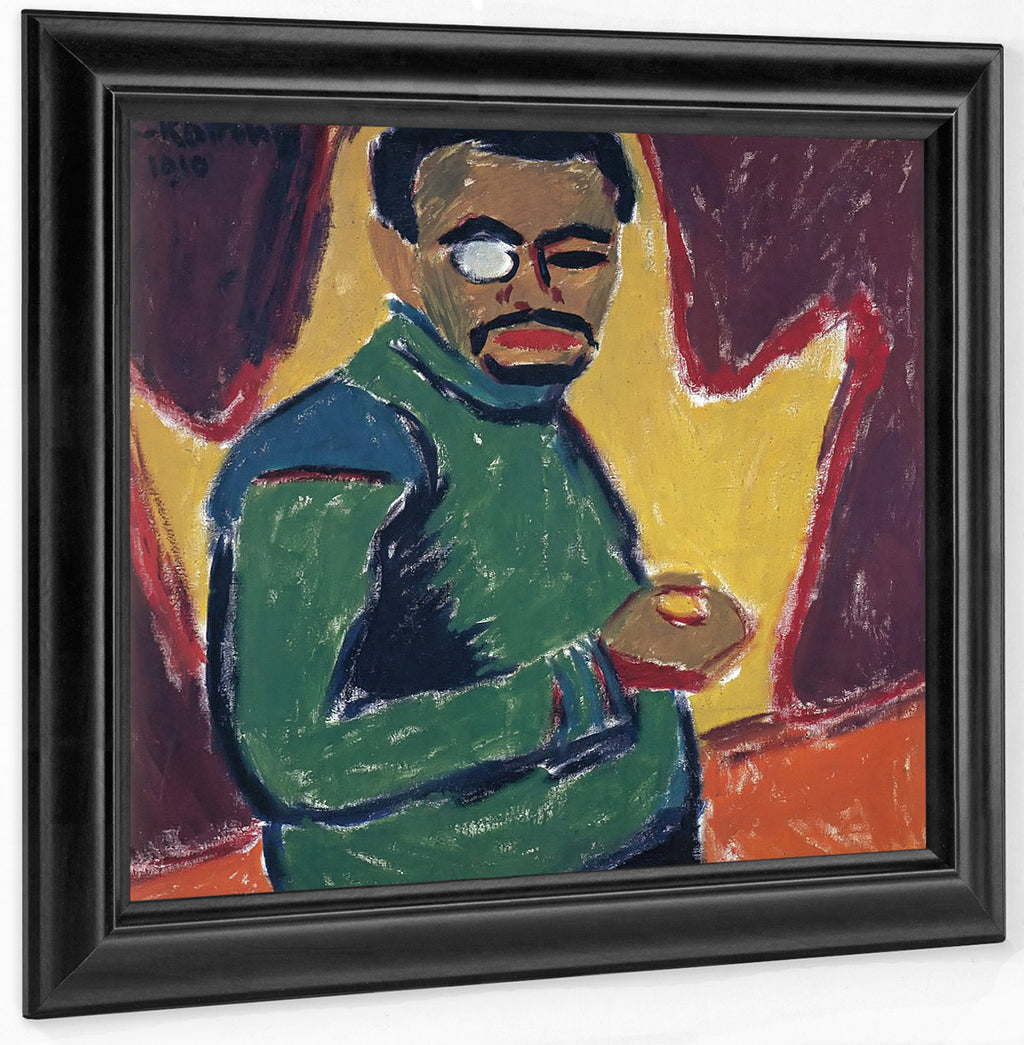 Self Portrait With Monocle M9 Karl Schmidt Rottluff