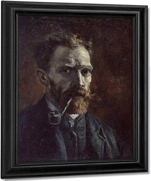 Self Portrait With Pipe By Vincent Van Gogh