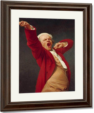 Self Portrait Yawning 1783 By Joseph Ducreux