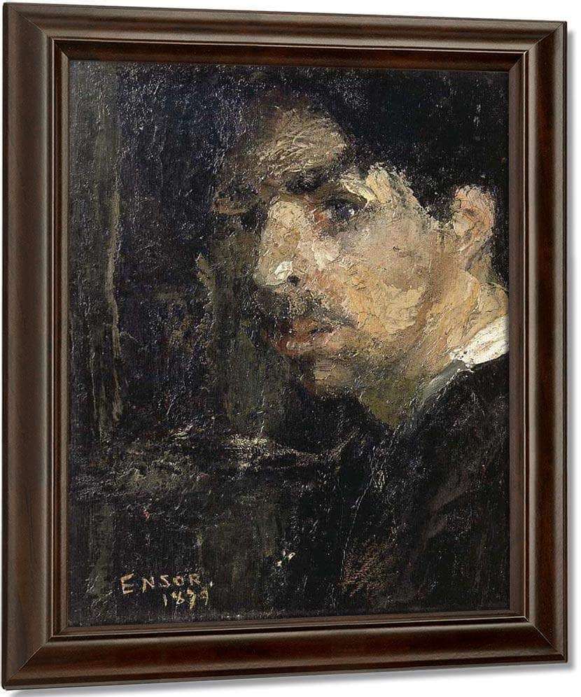 Self Portrait, Called The Big Head By James Ensor
