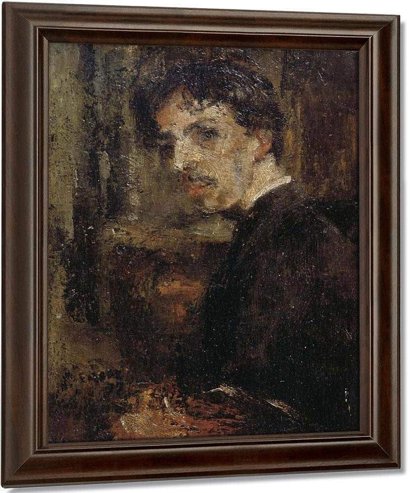 Self Portrait, Called The Little Head By James Ensor
