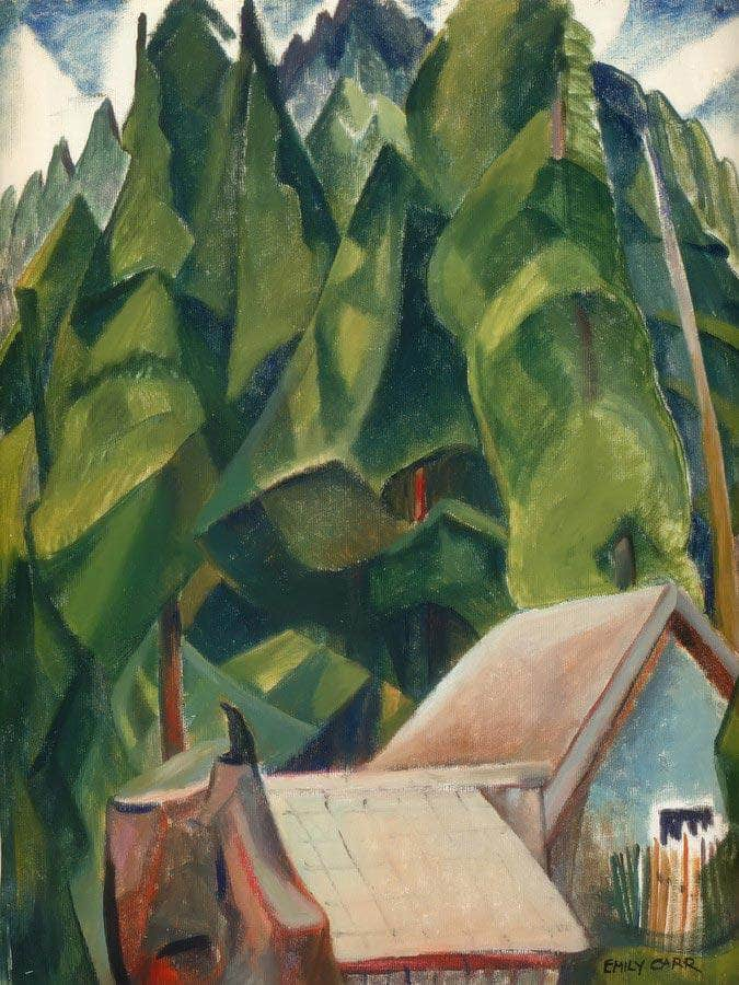Shacks And By Trees By In By A By Wood By Emily Carr