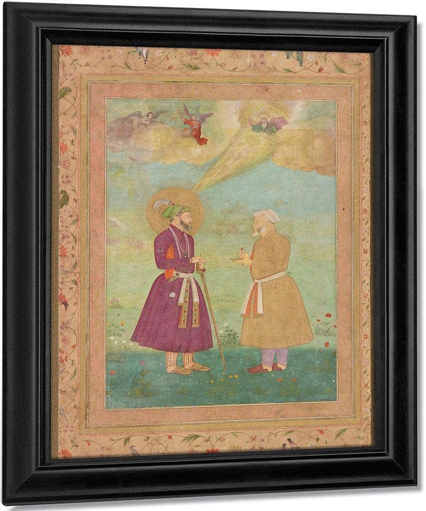 Shah Jahan With Asaf Khan 1640 By Bichitr