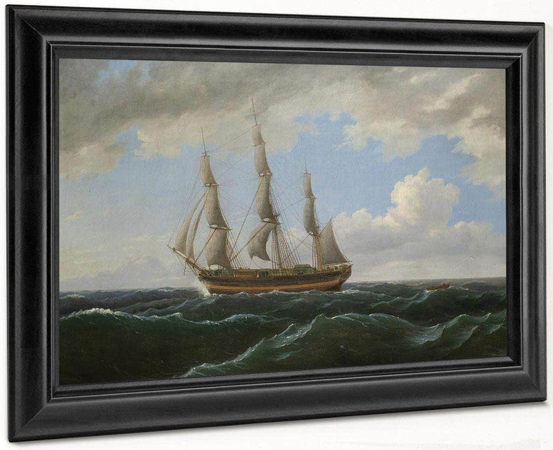 Ship Towing A Small Boat Astern By Birch Thomas