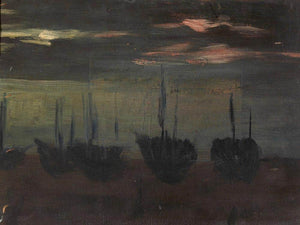 Ships In Moonlight By Alice Pike Barney