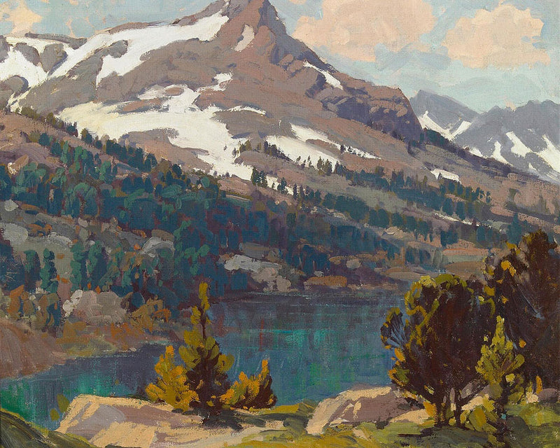 Sierra Lake And Glaciers By Edgar Payne