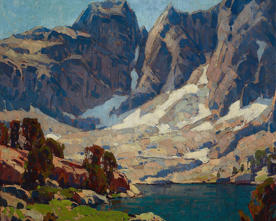 Sierra Lake Beneath Glaciers By Edgar Payne
