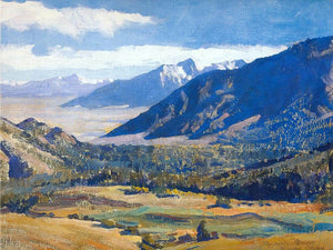 Sierra Nevada From The Desert By Maynard Dixon