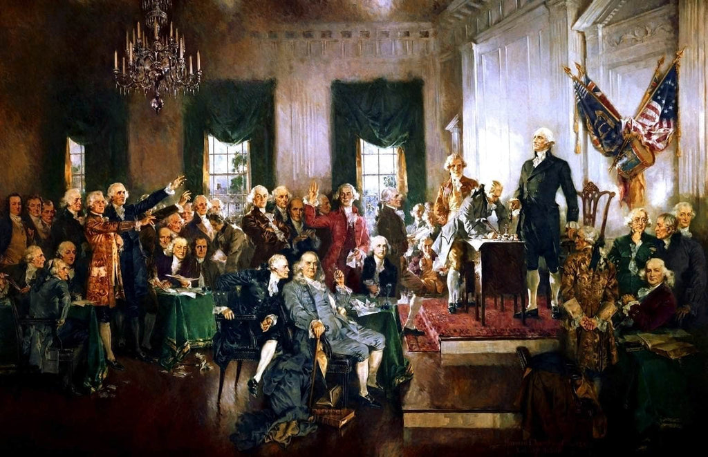 Signing Of The Constitution United States Painting Howard Christy Canvas Art
