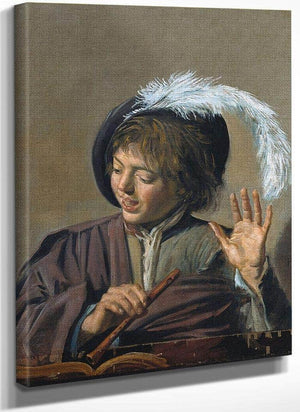 Singing Boy With A Flute By Frans Hals