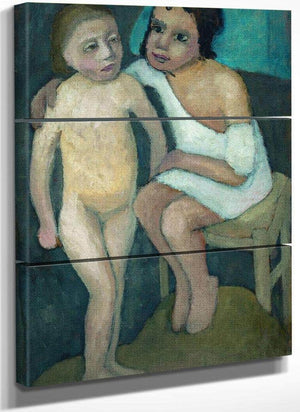 Sitting Girl And Nude 1906 By Paula Modersohn Becker