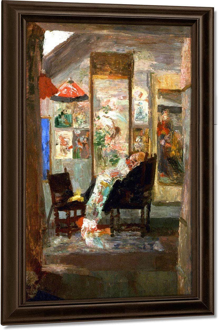 Skeleton Looking At Chinoiseries By James Ensor