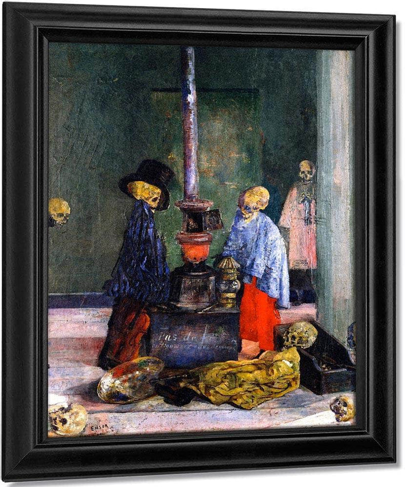 Skeletons Trying To Warm Themselves By James Ensor