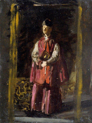Sketch For Portrait Of Monsignor James P. Turner By  Eakins Thomas