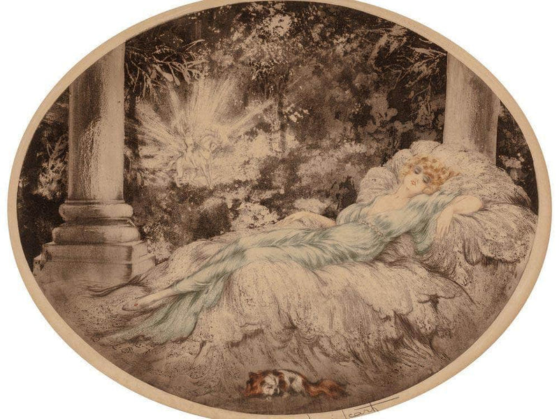 Sleeping Beauty 1927 By Louis Icart