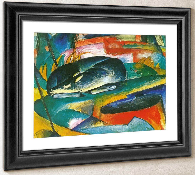 Sleeping Deer By Franz Marc