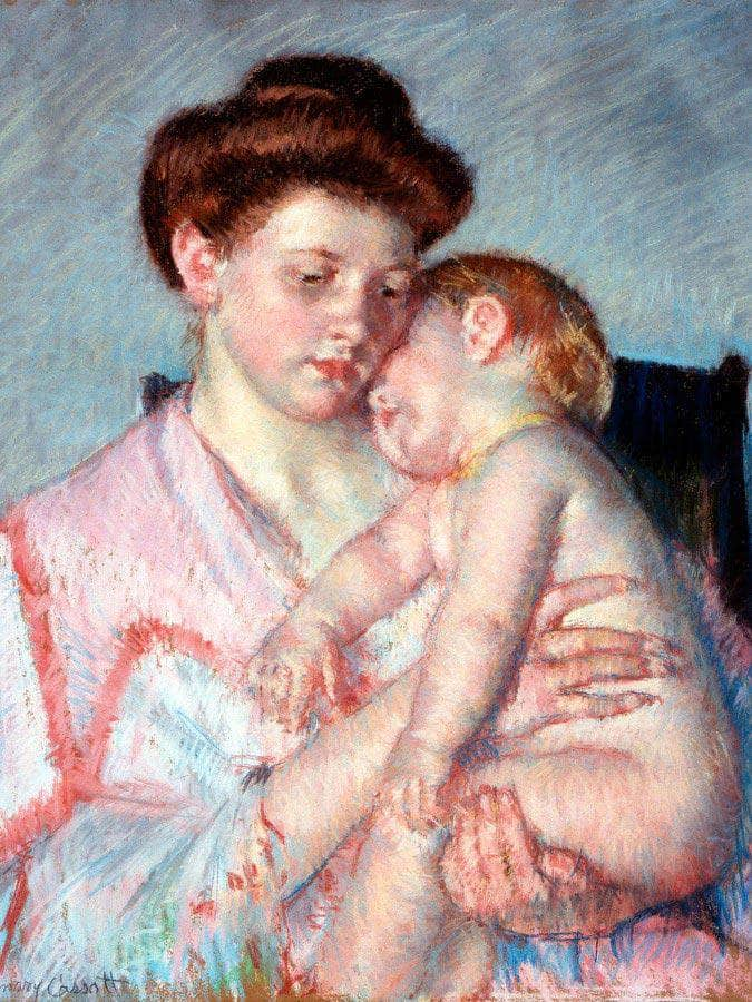 Sleepy Baby By Cassatt Mary