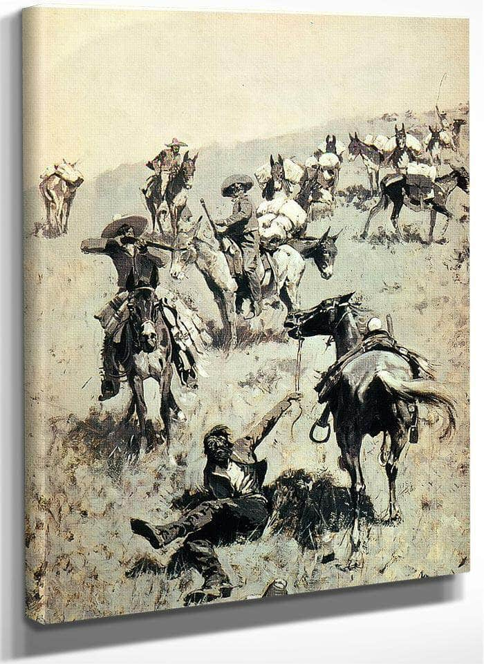 Smugglers Attackd By Mexican Customs Guards By Frederic Remington