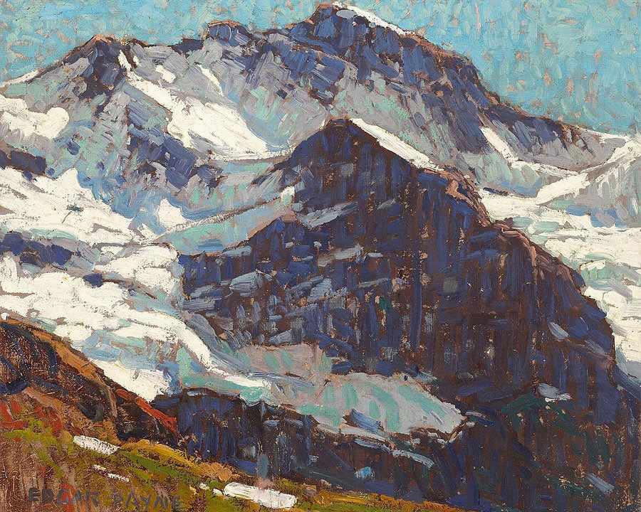 Snow Covered Peaks By Edgar Payne