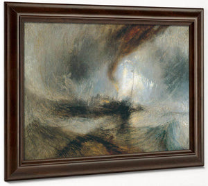 Snow Storm Steam Boat Off A Harbour 1039 S Mouth 1842 By Joseph Mallord William Turner