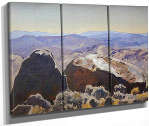 South From Quartz Mountain By Maynard Dixon