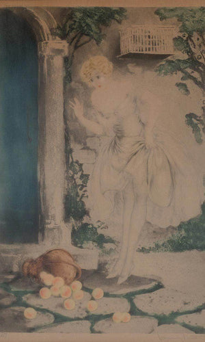 Spilled Apples Circa 1928 By Louis Icart