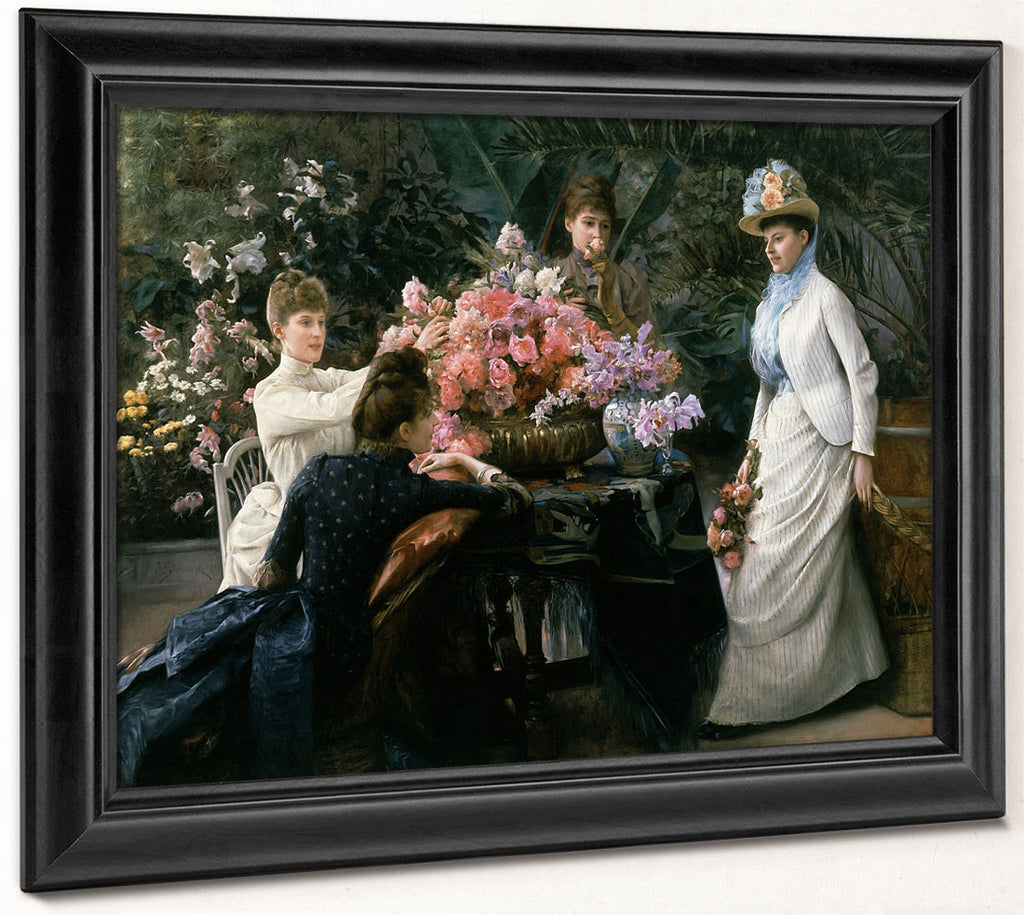 Spring Flowers (In The Conservatory) By Julius Leblanc Stewart