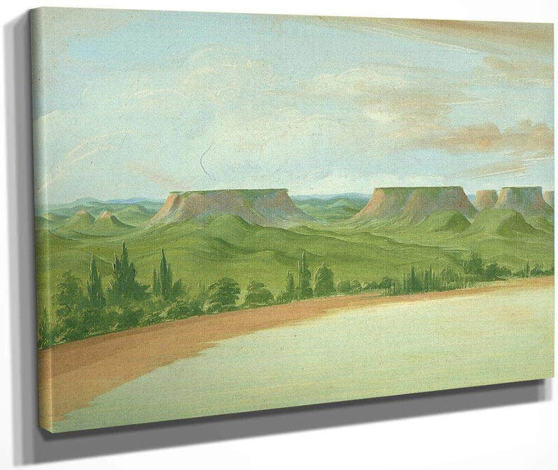 Square Hills, 1200 Miles Above St. Louis By George Catlin