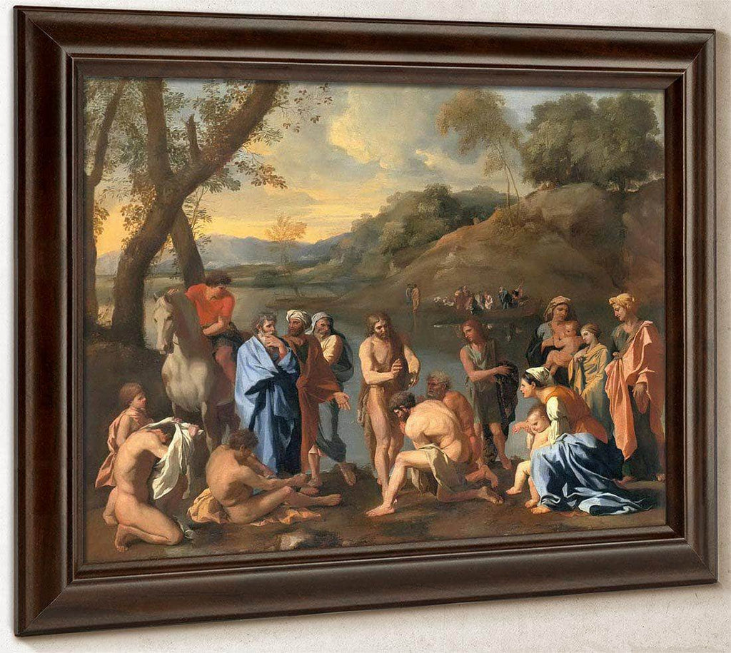 St John Baptising The People By Nicholas Poussin