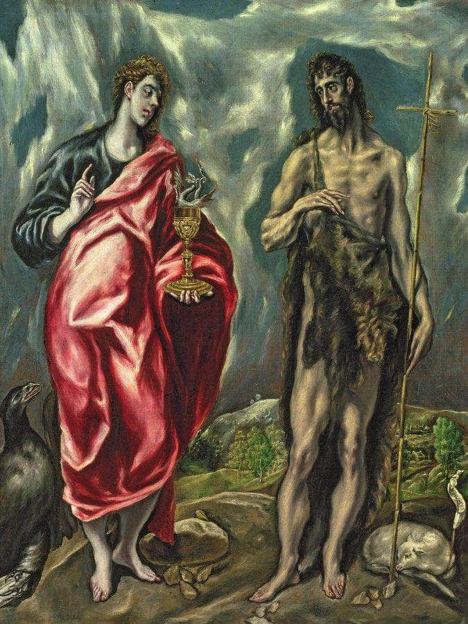 St John The Evangelist And St. John The Baptist By El Greco