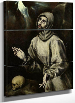 St. Francis Of Assisi Receiving The Stigmata By El Greco