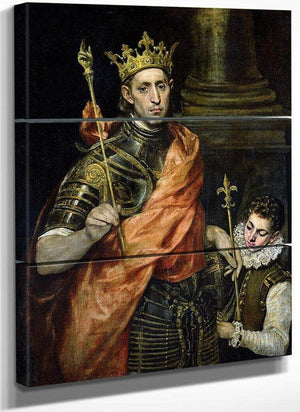 St. Louis (1215 70) And His Page By El Greco