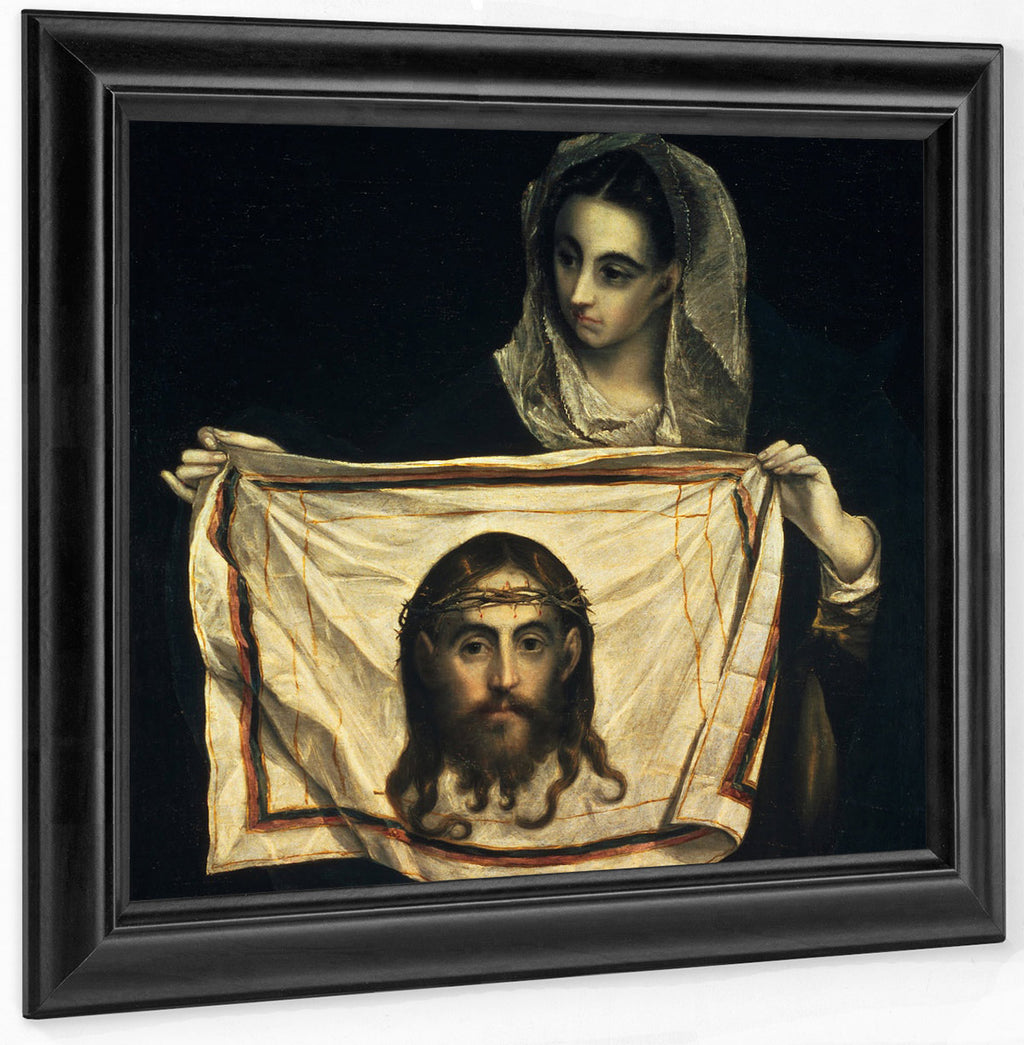 St.Veronica With The Holy Shroud I By El Greco
