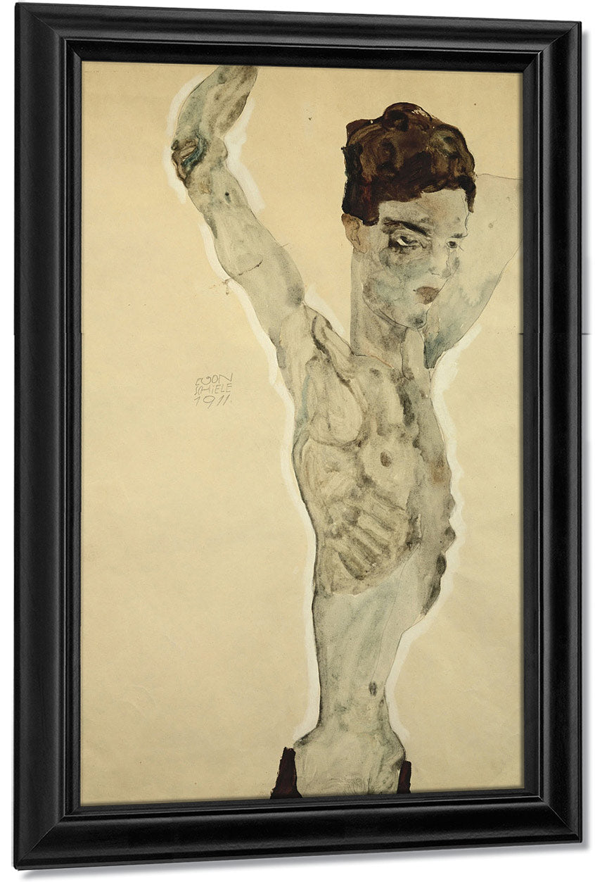 Standing Male Nude By Egon Schiele