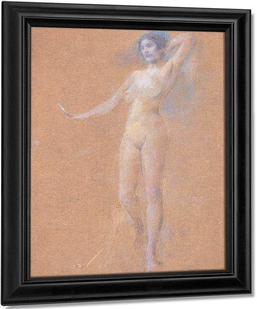 Standing Nude Figure Of A Girl By Thomas Wilmer Dewing