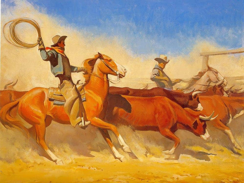Steers To Market By Maynard Dixon