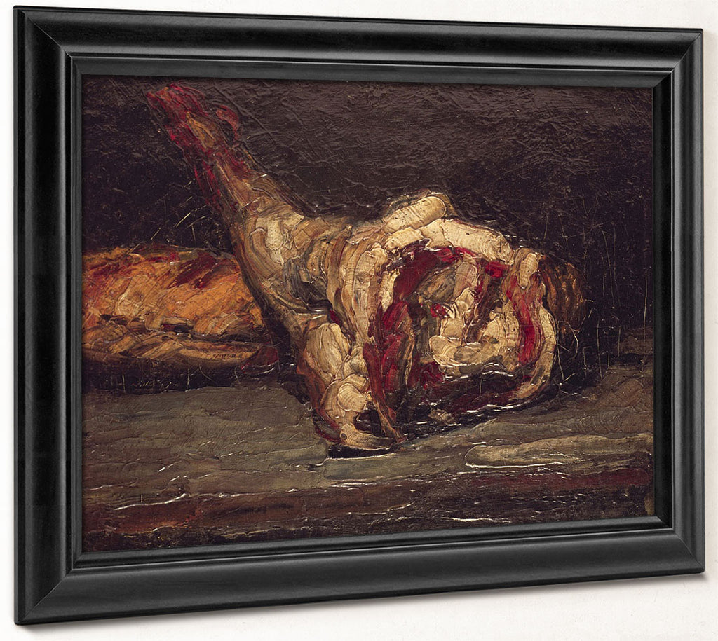 Still Life Of A Leg Of Mutton And Bread By Paul Cezanne