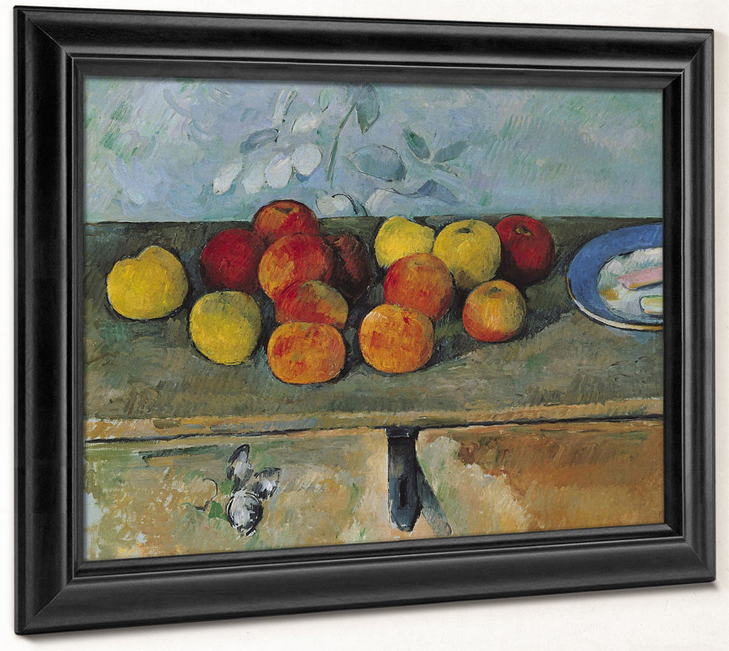 Still Life Of Apples And Biscuits By Paul Cezanne