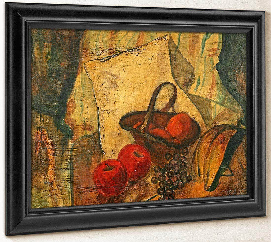 Still Life Of Fruit In A Basket By Alfred Henry Maurer