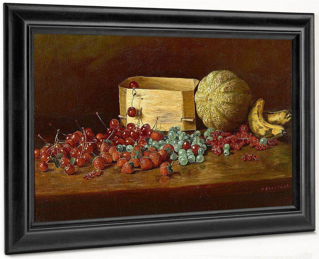 Still Life Of Fruit By Joseph Kleitsch