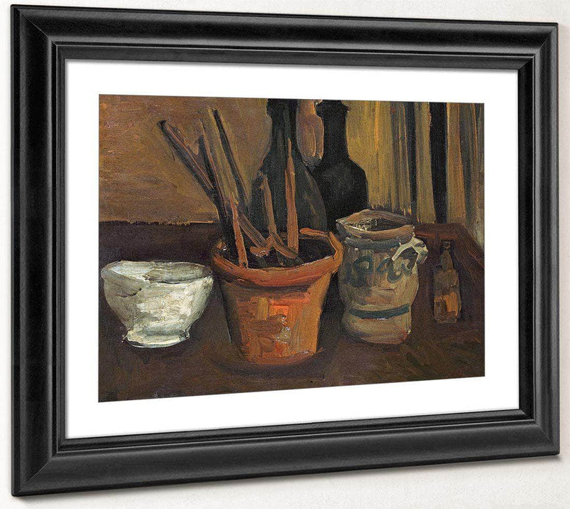Still Life Of Paintbrushes In A Flowerpot By Vincent Van Gogh